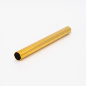 Copritubo h140 mm oro caldo lucido galvanico Ø13 spessore 1 mm