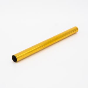 Copritubo h200 mm oro caldo lucido galvanico Ø13 spessore 1 mm