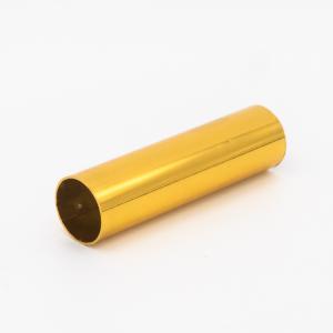 Copritubo L 60 mm oro caldo lucido Ø16 spessore 1 mm