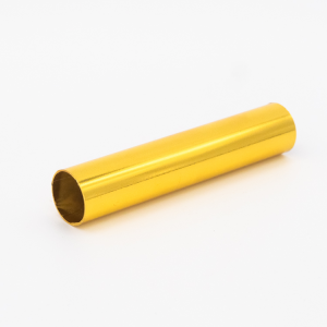 Copritubo L 80 mm oro caldo lucido Ø16 spessore 1 mm