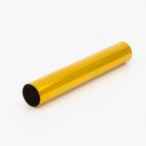 Copritubo L100 mm oro caldo lucido Ø16 spessore 1 mm