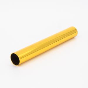 Copritubo L120 mm oro caldo lucido Ø16 spessore 1 mm