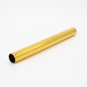 Copritubo L160 mm oro caldo lucido Ø16 spessore 1 mm