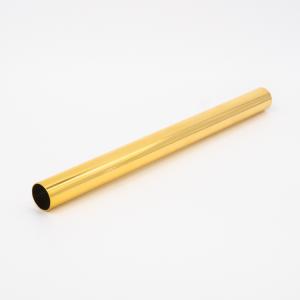 Copritubo L200 mm oro caldo lucido Ø16 spessore 1 mm
