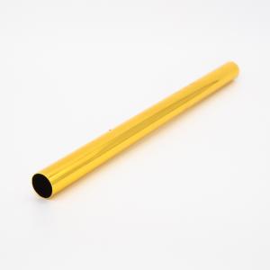 Copritubo L250 mm oro caldo lucido Ø16 spessore 1 mm