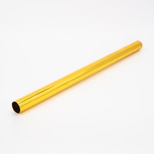 Copritubo L280 mm oro caldo lucido Ø16 spessore 1 mm