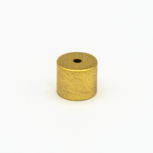 Finale ottone cilindrico grezzo Ø12 x h10 mm - M10x1 + foro centrale per cavo Ø1,5 mm