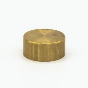 Finale ottone grezzo Ø23 x h10 mm - M10x1 cilindrico