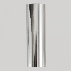 Guscio copri porta-lampada E14 cromo liscio in plastica h 85 mm (no nippel per attacco elettrico)