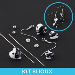 Kit per la creazione fai da te di orecchini con perle cuore in vetro di Murano
