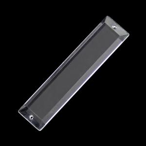 Losanga 61 mm, cristallo acrilico 2 fori, colore puro trasparente.