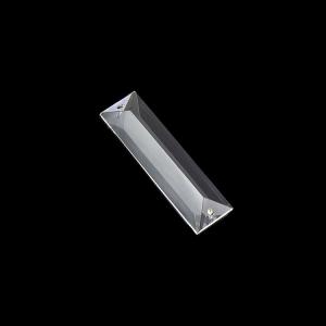Losanga 63 mm baguette in cristallo molato con doppio foro.