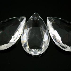 Mandorla 32 mm, goccia pendente vetro veneziano