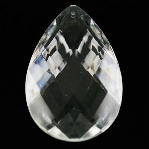 Mandorla 63 mm, disegno a rete, goccia pendente vetro veneziano