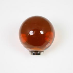 Maniglia pomello sfera ambra Ø20 vetro di Murano con filettatura M4 Femmina
