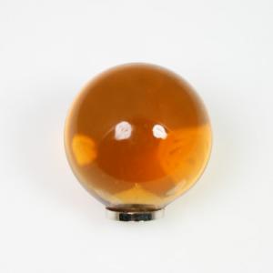 Maniglia pomello sfera gialla Ø25 vetro di Murano con filettatura M4 Femmina
