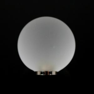 Maniglia pomello sfera satinata cristallo Ø25 vetro di Murano con filettatura M4 Femmina