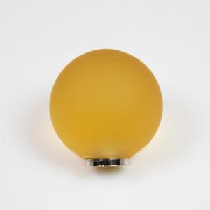 Maniglia pomello sfera satinata gialla Ø20 vetro di Murano con filettatura M4 Femmina