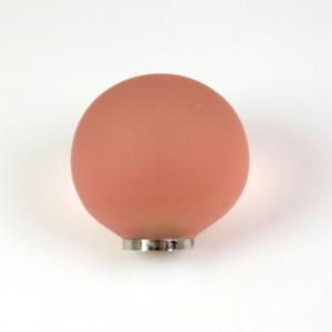 Maniglia pomello sfera satinata rosa antico Ø20 vetro di Murano con filettatura M4 Femmina