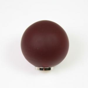 Maniglia pomello sfera satinata rossa Ø25 vetro di Murano con filettatura M4 Femmina