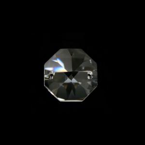 Ottagono 16 mm cristallo sfaccettato due fori -Asfour 1080-