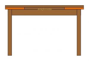 Tavolo rettangolare allungabile cm 100 x 70 - bicolore