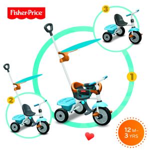 Triciclo Jolly Plus Azzurro Arancio Fisher Price