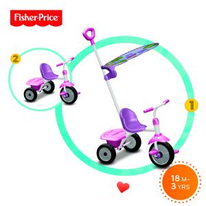 Triciclo Glee Plus Lilla e rosa Fisher Price