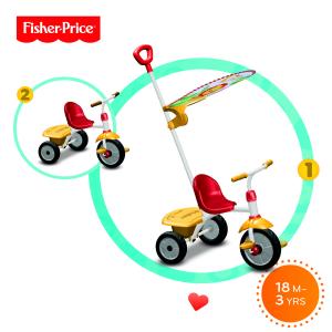 Triciclo Glee Plus Giallo e rosso Fisher Price