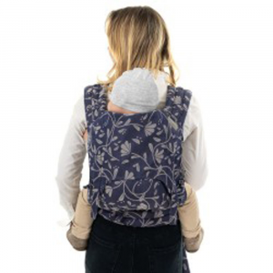Fly Tai Baby Size- Mei Tai Floral Touch - Eclipse Blue