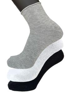 6 Paia di calzini uomo cotone senza elastico taglio vivo VIRTUS