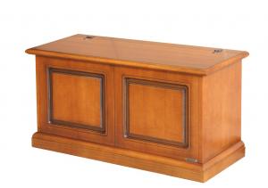 Caja de almacenaje en madera pata abatible Riba