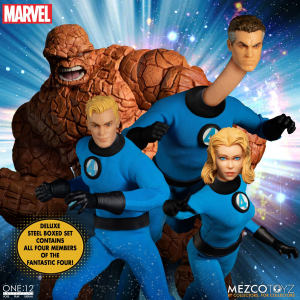 *PREORDER* Marvel Universe One:12 Collective: FANTASTIC FOUR (Steel Box Set) by Mezco Toys