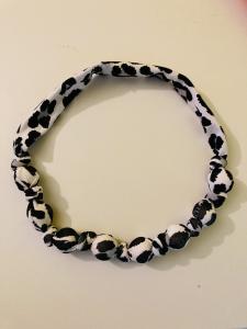 Leopardo - collana di stoffa