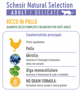 Schesir Cat - Natural Selection - No Grain - Adult - Pollo - 4.5kg