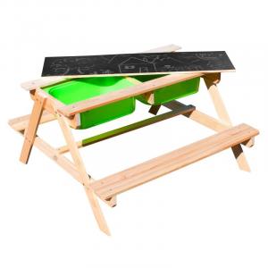 Tavolino da picnic Dual Top Sunny Lavagna Sabbia e Acqua