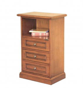 Small chest of drawers with open compartment