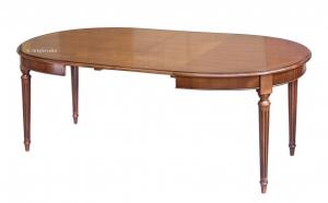 Mesa ovalada 130-210 cm elegante y resistente