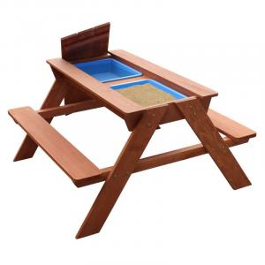 Tavolino picnic Sunny Dave Sabbia & Acqua marrone