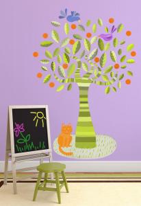 Adesivo murale rimuovibile Wallskin L'albero verde