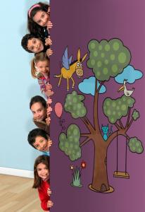Adesivo murale rimuovibile Wallskin Un albero davvero magico