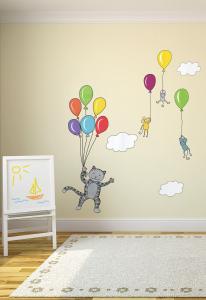 Adesivo murale rimuovibile Wallskin I palloncini