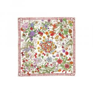 Floral silk foulard