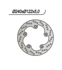 65.91067/0 DISCO FRENO POSTERIORE SCOOTER KYMCO X CITING 125/250/300/400/500 2004>2018 NG