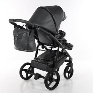 Novità Tako Baby - Laret Premium - telaio nero - ecopelle - nero/rosso