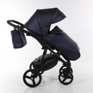 Novità Tako Baby - Laret Premium - telaio nero - ecopelle - Blu/rame (oro rosa)