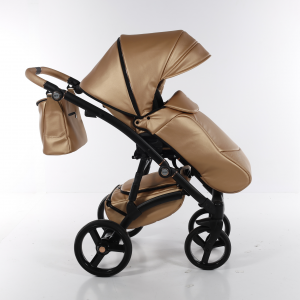 Novità Tako Baby - Laret Premium - telaio nero - ecopelle - oro rosa