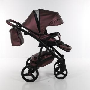 Novità Tako Baby - Laret Premium - telaio nero - ecopelle - prugna/argento