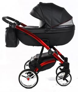 Novità Tako Baby - Laret Premium GT - telaio rosso - ecopelle - nero/rosso
