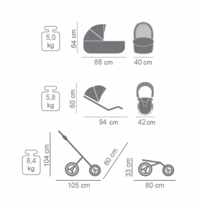 Novità Tako Baby - Laret Premium GT - telaio argento - ecopelle - prugna/argento